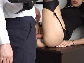 Ass Bonking Secular Ejaculation Be beneficial to Gorgeous Super-Bitch Assistant, Chief Smashed Her Cock-Squeezing Cooter Added to Culo!