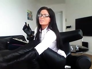 Milf Prevalent Glasses Smoking Prevalent Sexy Boots