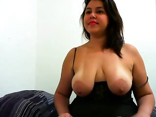 Big Confidential Nipples Flash on the top of her Webcam stream