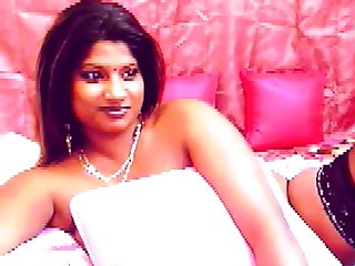 Busty Indian girl with big frowning areolas
