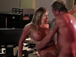 Late ill-lit office fuck with stunning indulge Samantha Saint